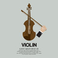 Violin stringed musical instrument vector illustration Stock Photography