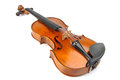 Violin under the white background Stock Photography