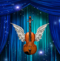 Violin with wings Royalty Free Stock Photos