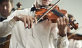 Violinist classical music playing at the concert Stock Image