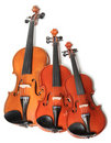 Violins trio Royalty Free Stock Photo