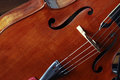 Violoncello detail of classical music Stock Photos