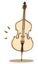 Violoncello vector Royalty Free Stock Photo
