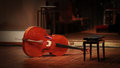 Violoncello on the stage Royalty Free Stock Photo