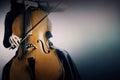 Violoncelo de los instrumentos musicales Fotos de archivo libres de regalías