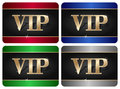 VIP Card Collection Stock Image