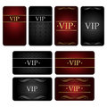 Vip card set Stock Photos