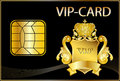VIP Card wit a golden crest Royalty Free Stock Images