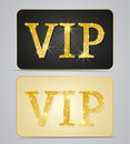 Vip cards gold two with text Royalty Free Stock Photos
