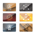 VIP club members only premium cards vector set Royalty Free Stock Photo