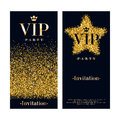 Vip invitation card premium design template party poster flyer black and golden glow glitter dust decorative background Royalty Free Stock Images