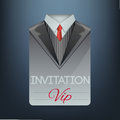 Vip invitation in the form of a suit vector illustration Stock Photography