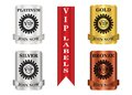 Vip package labels membership that can be used for membership plan deals or promotion Stock Photo