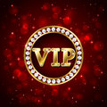 Vip On Red Background