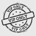 VIP Only rubber stamp isolated on white. Royalty Free Stock Photo