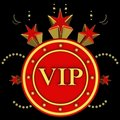 VIP on stars background Stock Image