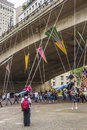 Virada cultural sao paulo brazil a hour marathon in the city of the swing in the chá viaduct Royalty Free Stock Image