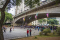 Virada cultural sao paulo brazil a hour marathon in the city of the swing in the chá viaduct Stock Photography