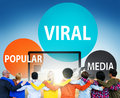 Viral Global Communications Internet Technology Concept Royalty Free Stock Photo