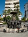 Virgen del rocio monument huelva andalucia spain in Royalty Free Stock Photos