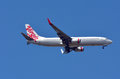 Virgin australia airlines gold coast aus nov plane in auckland fly in the air it s s second largest airline as well as Stock Photography