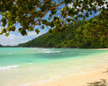 Virgin beach Seychelles Stock Photography