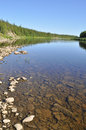 Virgin komi forests taiga river paga russia polar urals Stock Photography