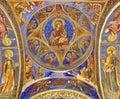 Orthodox church. Virgin Mary and Child - Hurezi or Horezu Monastery, landmark attraction in Romania Royalty Free Stock Photo