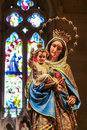 Virgin Mary with Child statue in Cathedral Royalty Free Stock Photo