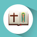 virgin mary guadalupe blessed bible design Royalty Free Stock Photo