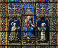 Virgin Mary and Holy Child (stained glass window) Stock Photography