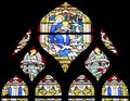 Virgin Mary and Holy Child (stained glass window) Royalty Free Stock Images
