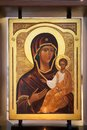 Virgin mary and jesus icon in the orthodox church Royalty Free Stock Image