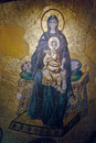 Virgin Mary and Jesus mosaic, Haghia Sophia, Royalty Free Stock Images