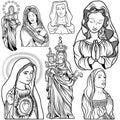 Virgin Mary Set Royalty Free Stock Photo
