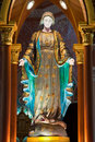 Virgin mary statue in  the church Royalty Free Stock Photos