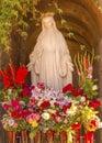 Virgin Mary Statue Mission San Buenaventura Ventura California Royalty Free Stock Photo