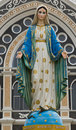 Virgin mary statue in thailand Stock Photos