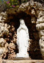 Virgin mary white stone statue of Royalty Free Stock Image