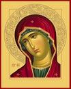 Virgin Oplechnaya raster picture Royalty Free Stock Photo