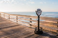 Virginia Beach Coin-operated sightseeing binoculars Royalty Free Stock Photo