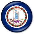 Virginia State Flag Button Stock Photo