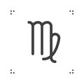 Virgo zodiac vector sign, horoscope symbol, astrology line icon, Royalty Free Stock Photo