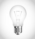 A virtual bulb detailed transparent Stock Photography