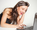 Virtual communication makes me happy! Royalty Free Stock Photo