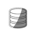 Virtual database storage Royalty Free Stock Photo