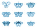 Virtual fractal butterflies series abstract design made of isolated on the subject of science creativity and design Stock Photos