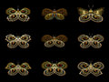Virtual fractal butterflies series composition of isolated suitable as a backdrop for the projects on science Royalty Free Stock Images
