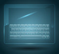 Virtual keyboard Stock Photo