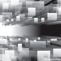 Virtual perspective background abstract grayscale Royalty Free Stock Photos